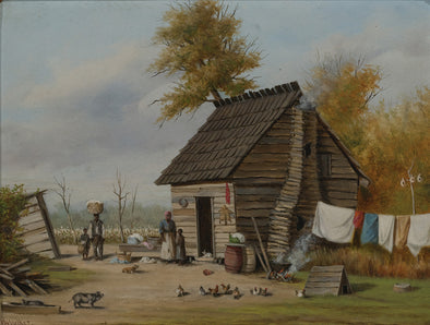 William Aiken Walker - Outsite The Cabin
