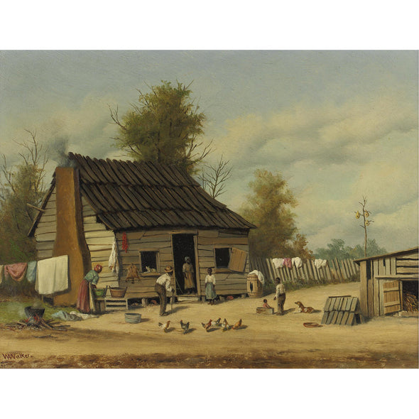 William Aiken Walker - The Cotton Pickers Cabin