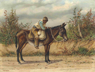 William Aiken Walker - Young Boy on a Mule