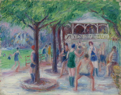 William Glackens - Bathers at Play, Study #2