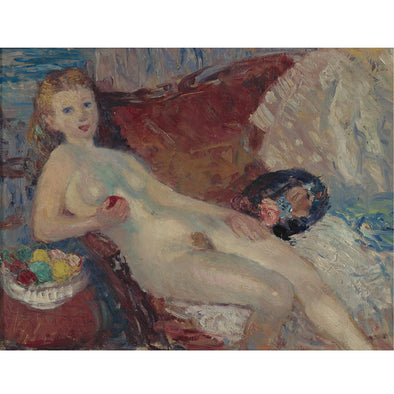 William Glackens - Study for Nude with Apple