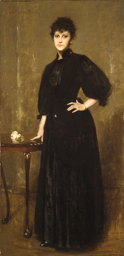 William Merritt Chase - Lady in Black