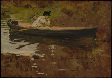 William Merritt Chase - Mrs. Chase in Prospect Park