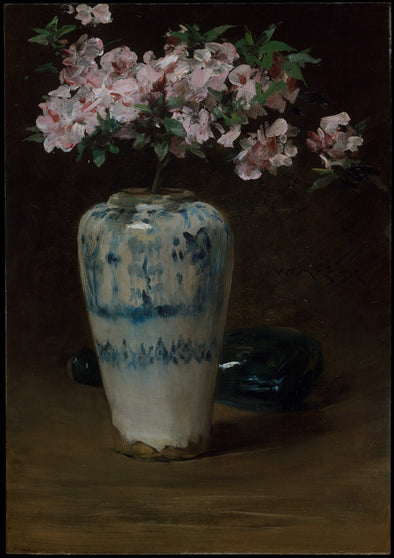 William Merritt Chase - Pink Azalea (Chinese Vase)