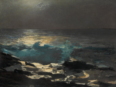Winslow Homer - Moonlight Wood Island Light