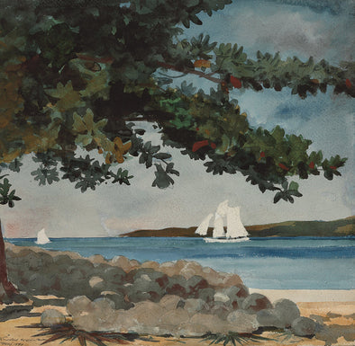 Winslow Homer - Nassau, Water and Sailboat