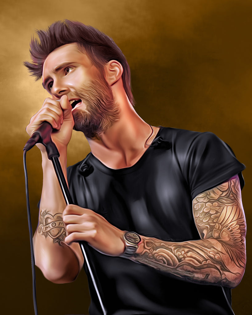 Adam Levine Digital Painting - Get Custom Art