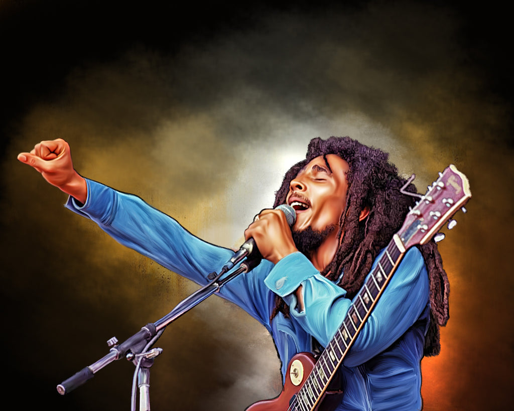 Bob Marley Digital Painting - Get Custom Art