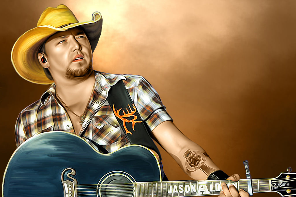 Jason Aldean Digital Painting - Get Custom Art