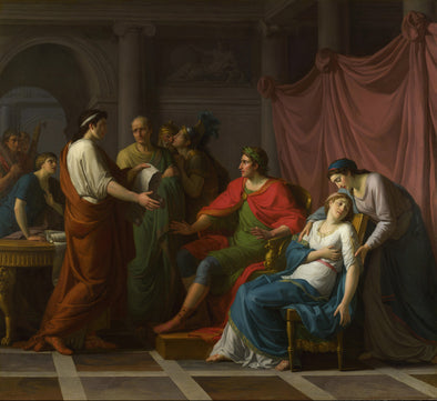 Jean Joseph Taillasson - Virgil reading the Aeneid to Augustus and Octavia