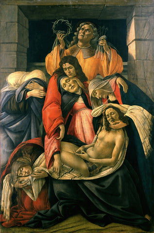 Sandro Botticelli - Lamentation over the Dead Christ