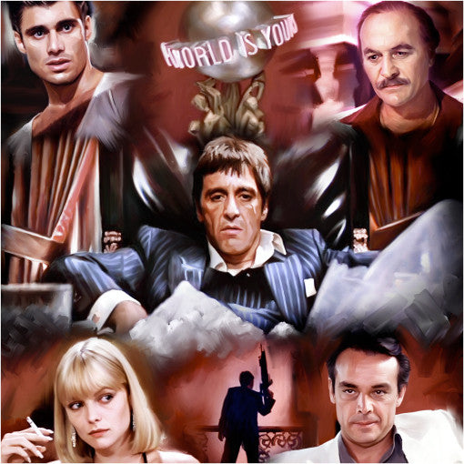 Scarface Movie Digital Painting - Get Custom Art