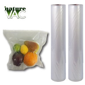 NATUREVAC Vacuum Seal Bags 11in. x 19.5ft. All Clear (2 Rolls)