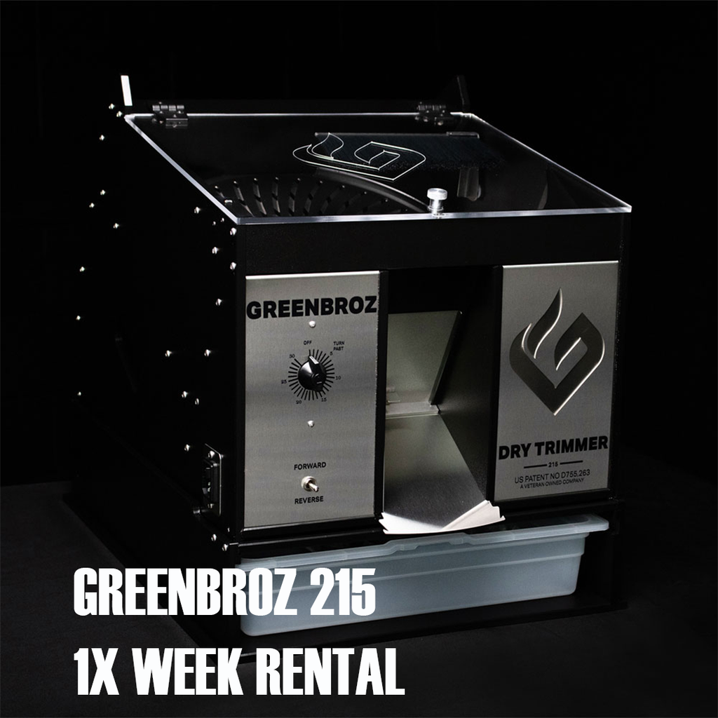 GREENBROZ 215 Dry Trimmer (1x week RENTAL)