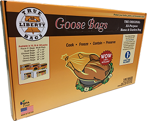TRUE LIBERTY 4-Gallon Bags (Goose Bags) 100 Pack