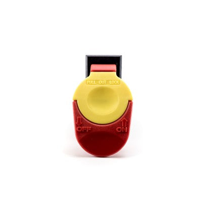 Twister Safety Lockout Switch Red And Yellow For T2, T4 & T6