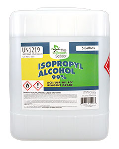 THE GREEN SCISSOR 99% Isopropyl Alcohol 5gal