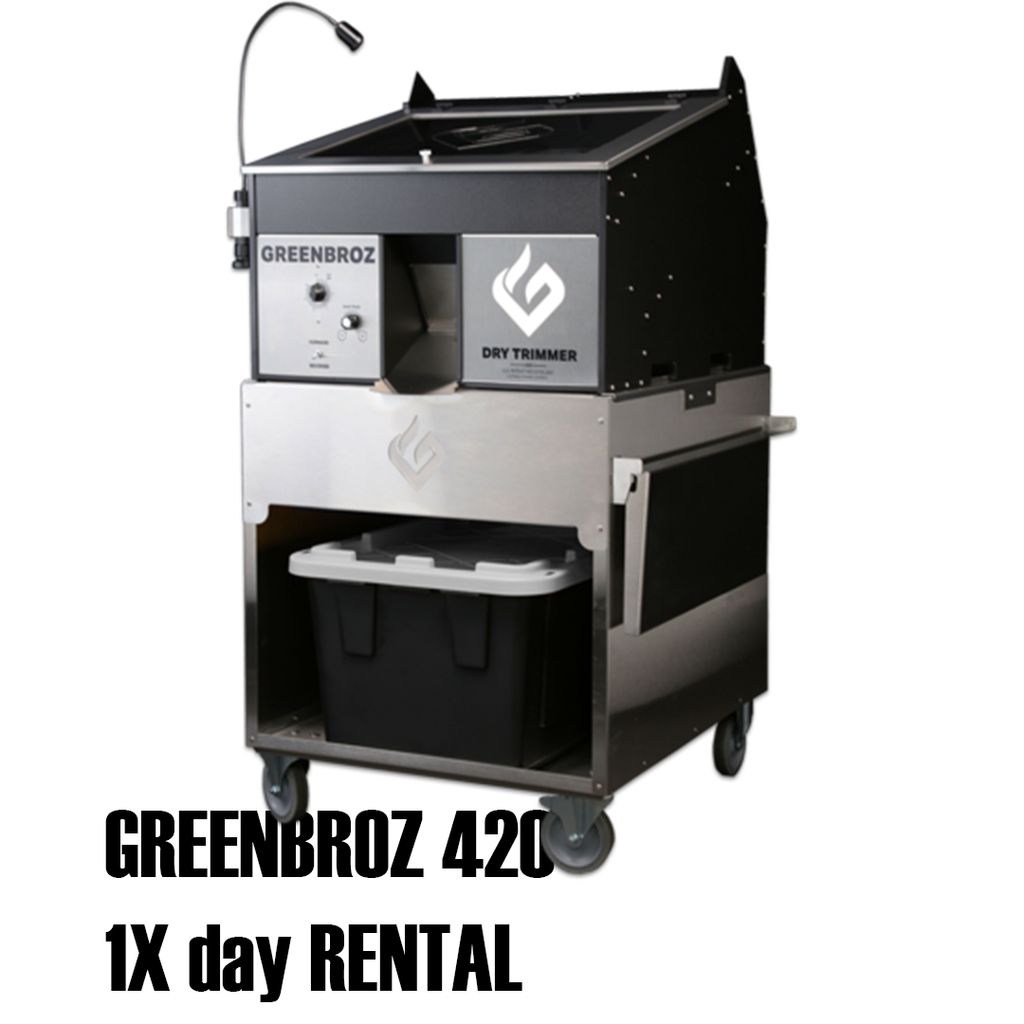 GREENBROZ 420 Dry Trimmer (1x day RENTAL)