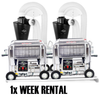 TWISTER 2x T2 Trimmers + 2x Trim Savers (tandem) (1x week RENTAL)