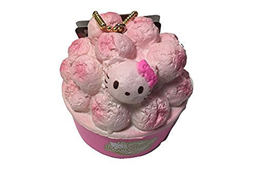 Sanrio Licensed Hello Kitty Lovely Sweets Series 3 Strawberry Coated Popcorn Squishy