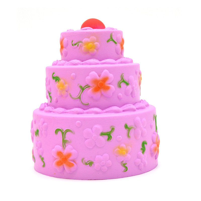 SUPER Slow Rise Kiibru 3 Tier SCENTED Birthday Cake! Jenna Lyn Squishies and Accessories