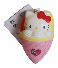 Squishy Hello Kitty Lovely Sweets Strawberry Sundae Cone!
