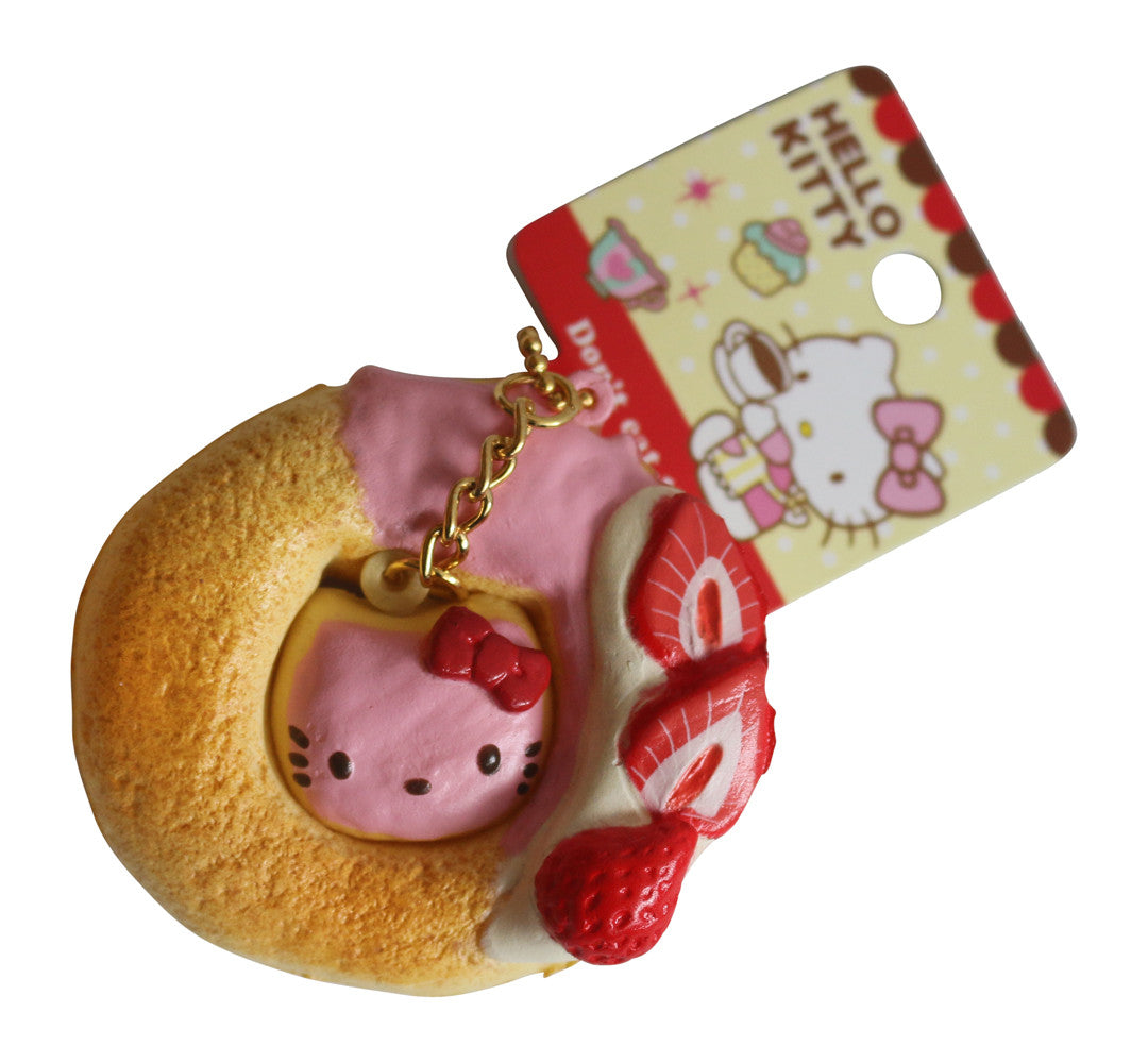 Hello Kitty Donut Squishy Size : Squishy Hello Kitty Lovely Sweets Mini Strawberry Donut! Jenna Lyn Squishies and Accessories