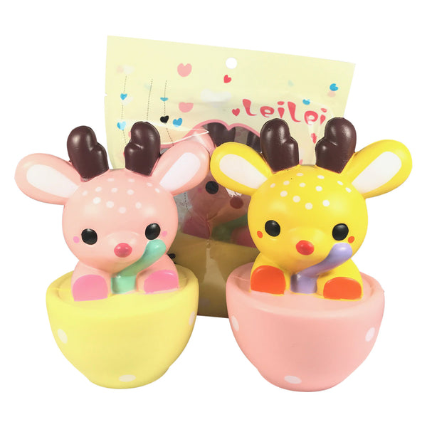 SUPER Slow Rise Lei Lei SCENTED Deer in a Teacup! Jenna Lyn Squishies and Accessories