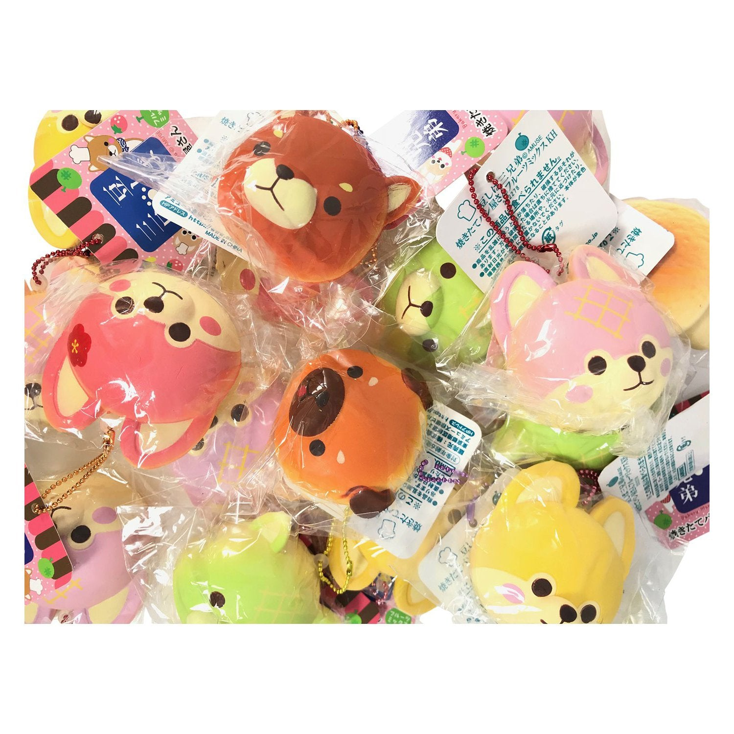 Squishy Pops Blind Bags : Mini ADORABLE Puppy Bread Bun Squishy from Japan! Bakery Mameshiba BLI Jenna Lyn Squishies and ...