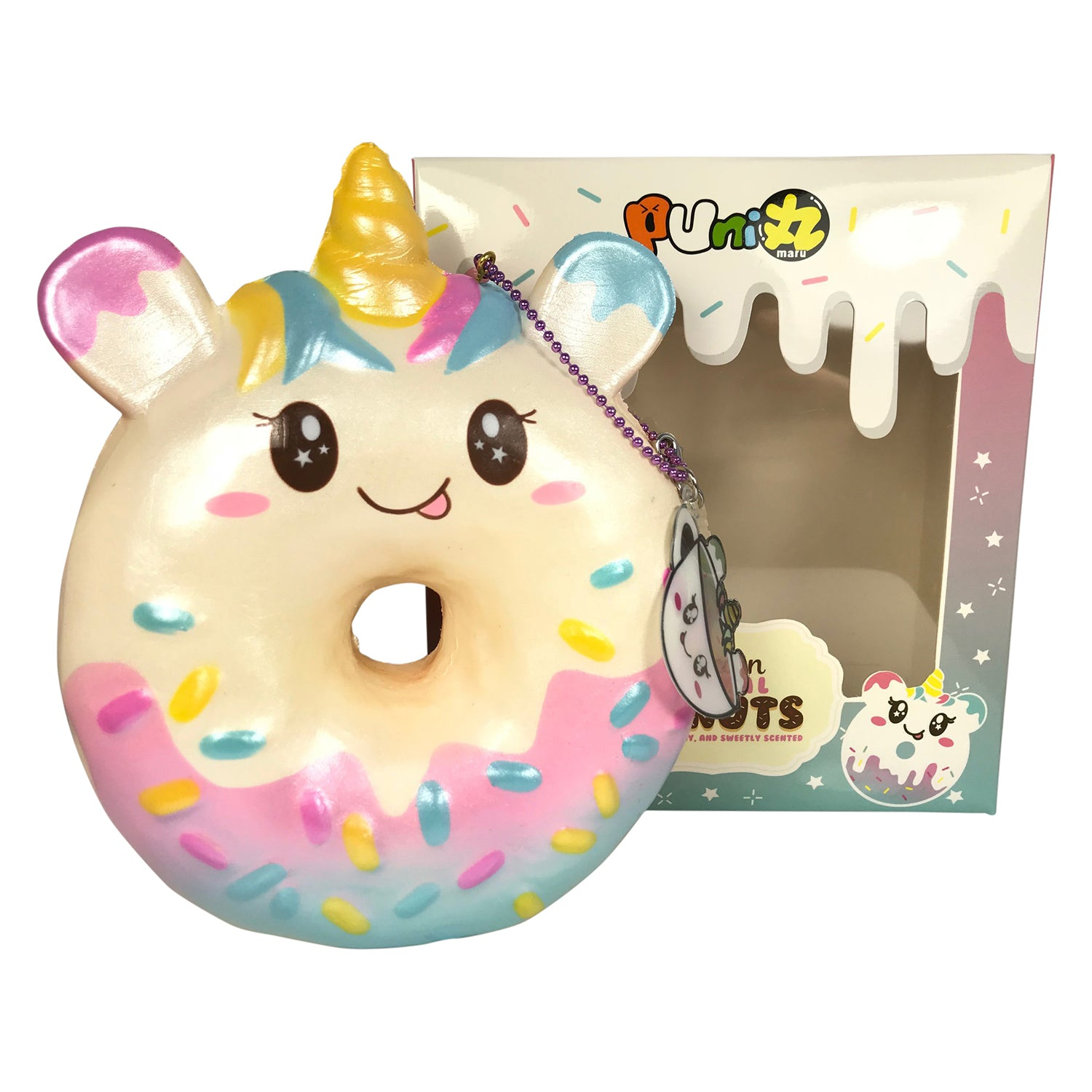 Squishy Donut Unicorn : Puni Maru Jumbo UNICORN Donut! SCENTED! Jenna Lyn Squishies and Accessories