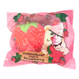 SCENTED YUMMIIBEAR Asleep on a STRAWBERRY Squishy! **LIMITED STOCK**