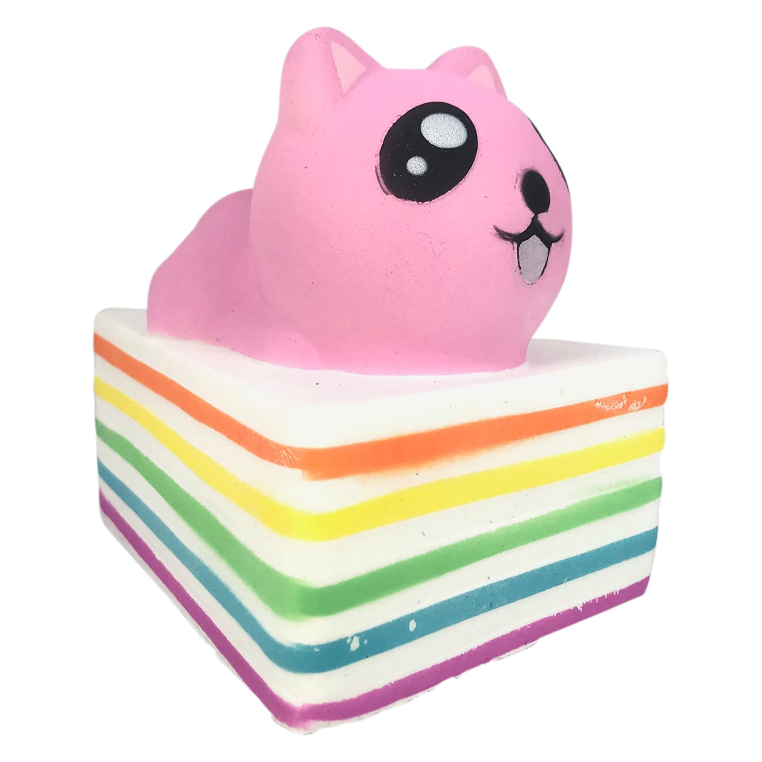 Slow Rising Colorful RAINBOW Cat CAKE! SCENTED!
