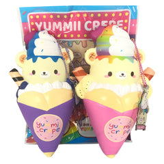 SCENTED Blueberry or Bubblegum YUMMIIBEAR Crepe Squishy!