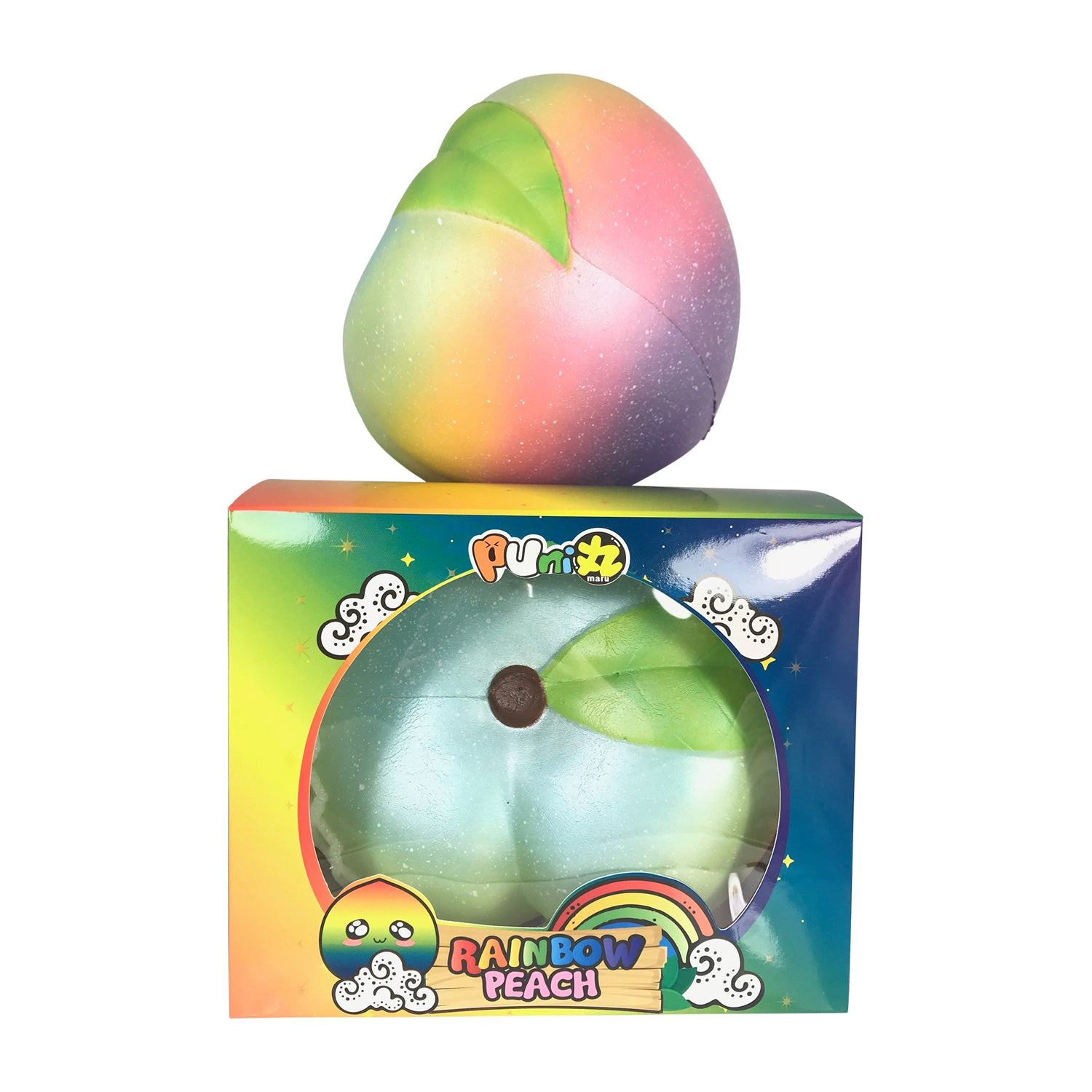 Puni Maru SUPER HUMONGOUS JUMBO Peach! Baby and Rainbow!!!!