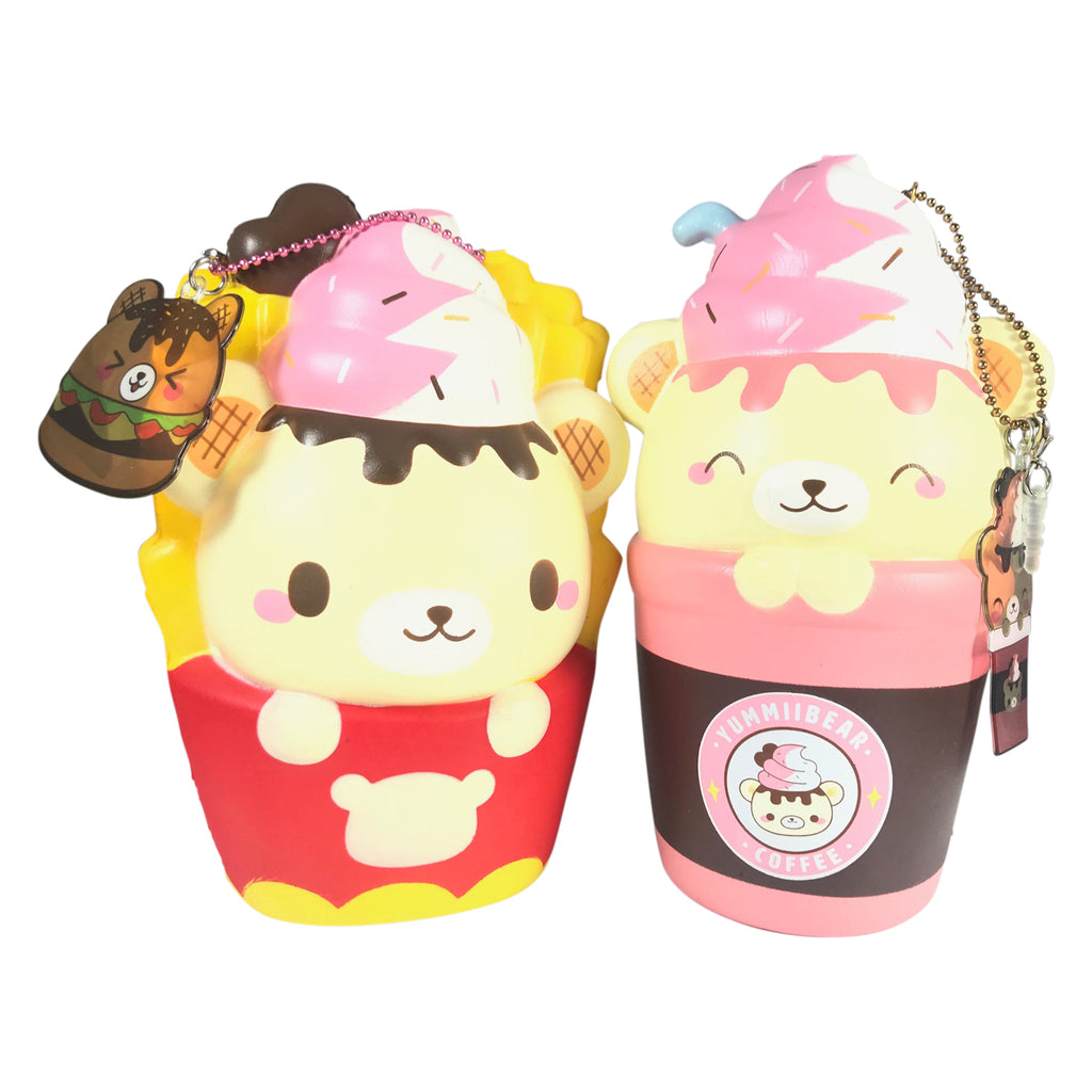 JUMBO Scented Yummiibear Fast Food Cafe Collection!!! BURGER TOO!