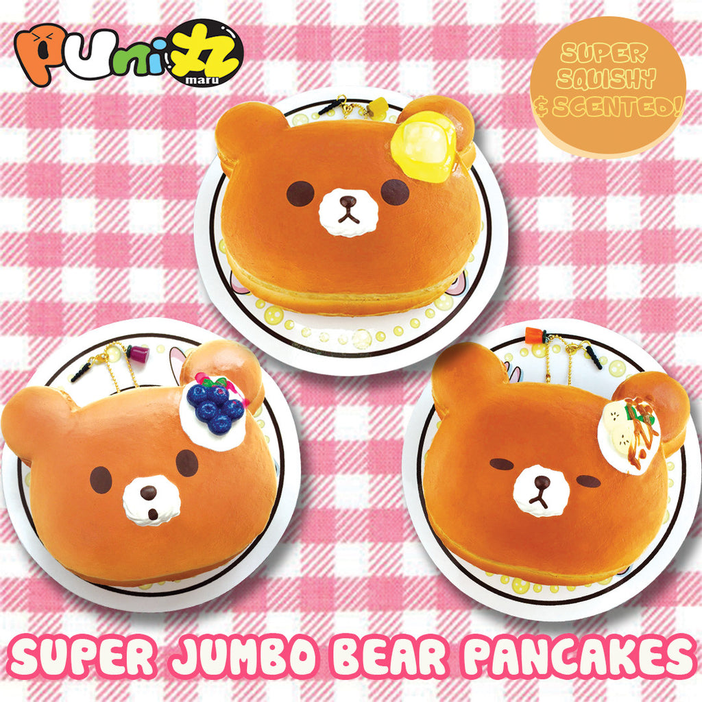 ***LIMITED - AS IS, DEFECTED - FINAL SALE!*** Puni Maru SCENTED Jumbo Bear Pancakes!