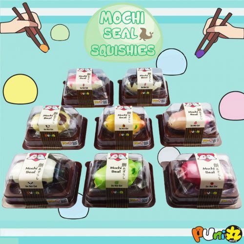 Puni Maru JUMBO Mochi Seal! RESTOCK Melon & Strawberry!
