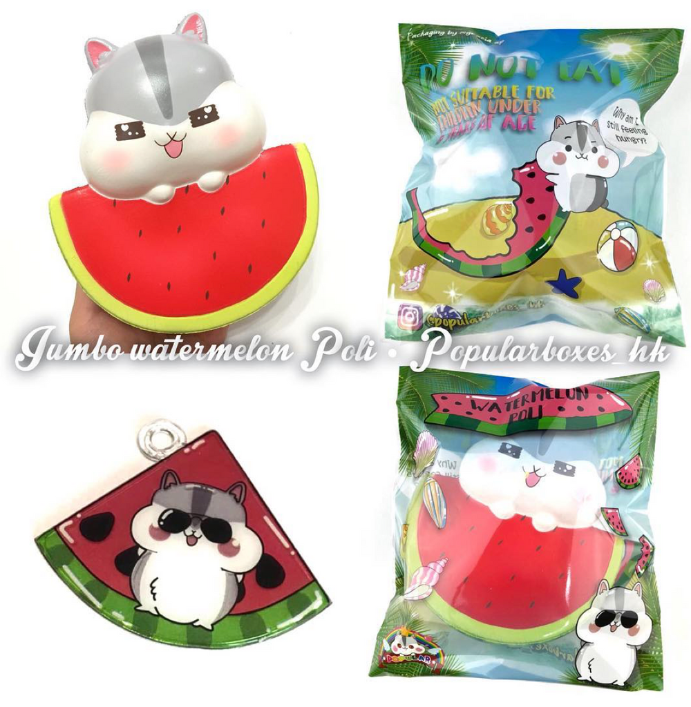 BIG, SLOW RISING, SCENTED Fat Poli & Watermelon Hamster! AMAZING detail!