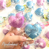 Mini, SCENTED, Licensed, SHIMMERY Poli Heart Macaron Squishy!
