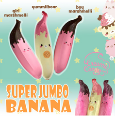 ***FINAL LIMITED STOCK*** Puni Maru KING Banana! YUMMIIBEAR, MARSHMELLII!