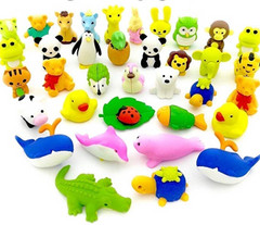 One Random KAWAII Animal Eraser! BLIND PACK!