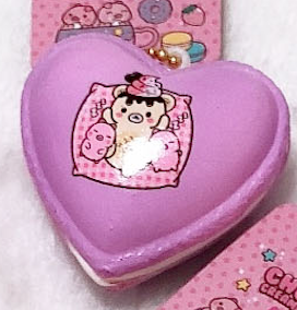Mini, SCENTED, Licensed, Yummiibear and MARSHMELLII Heart Macaron Squishy!