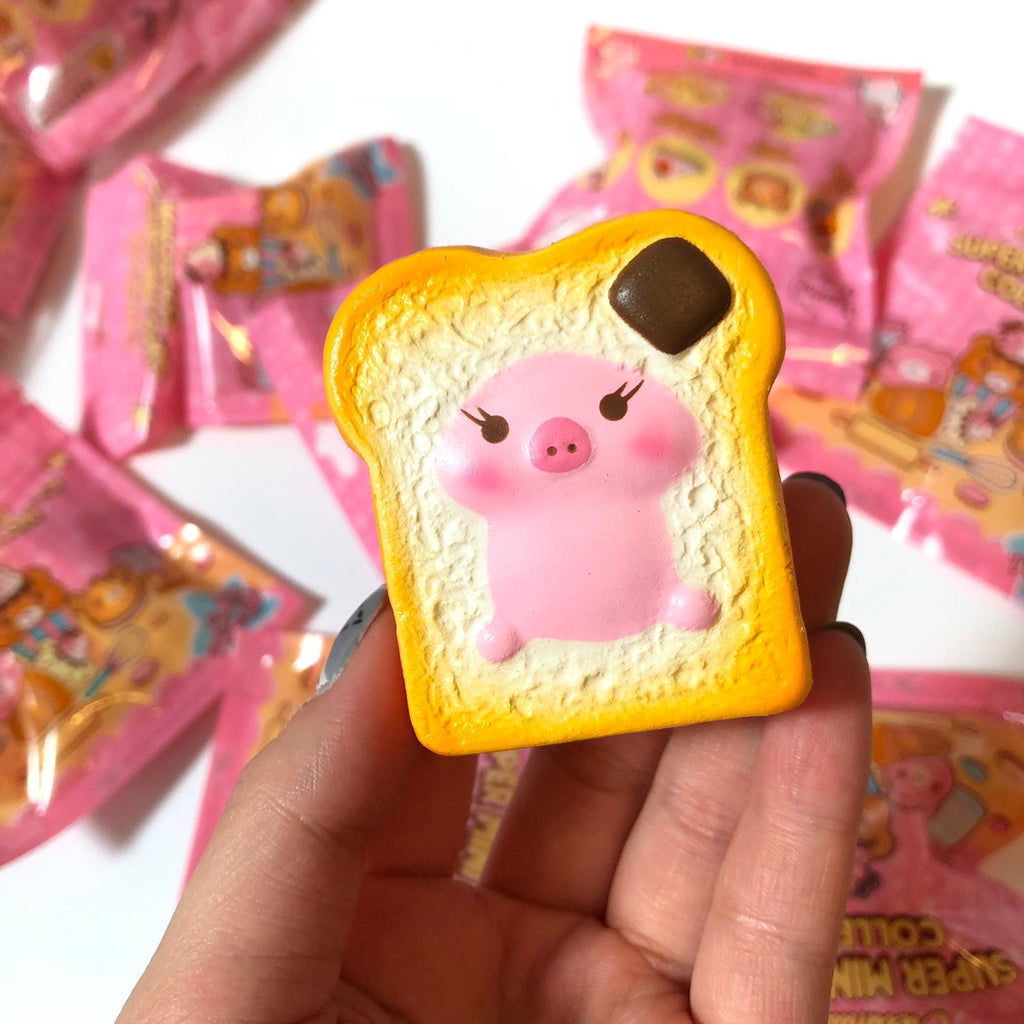 MINI Slow Rise SCENTED Marshmellii Toast Piggy BLIND BAG or COMPLETE SET!