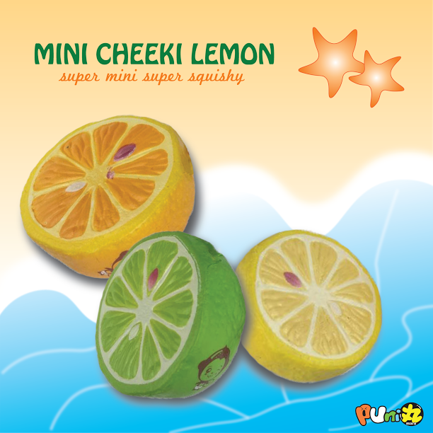 Puni Maru Cheeki's Mini Lemon, Lime or Orange! SCENTED!