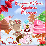 Mini, SCENTED, Licensed Peppermint Cocoa the Deer Heart SQUISHMAS Macaron!