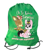 Jenna Lyn EXCLUSIVE Draw String Backpack with PEPPERMINT COCOA the Deer!