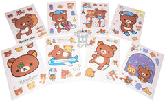 One Random KAWAII, Small RILAKKUMA Sticker Sheet! BLIND PACK!