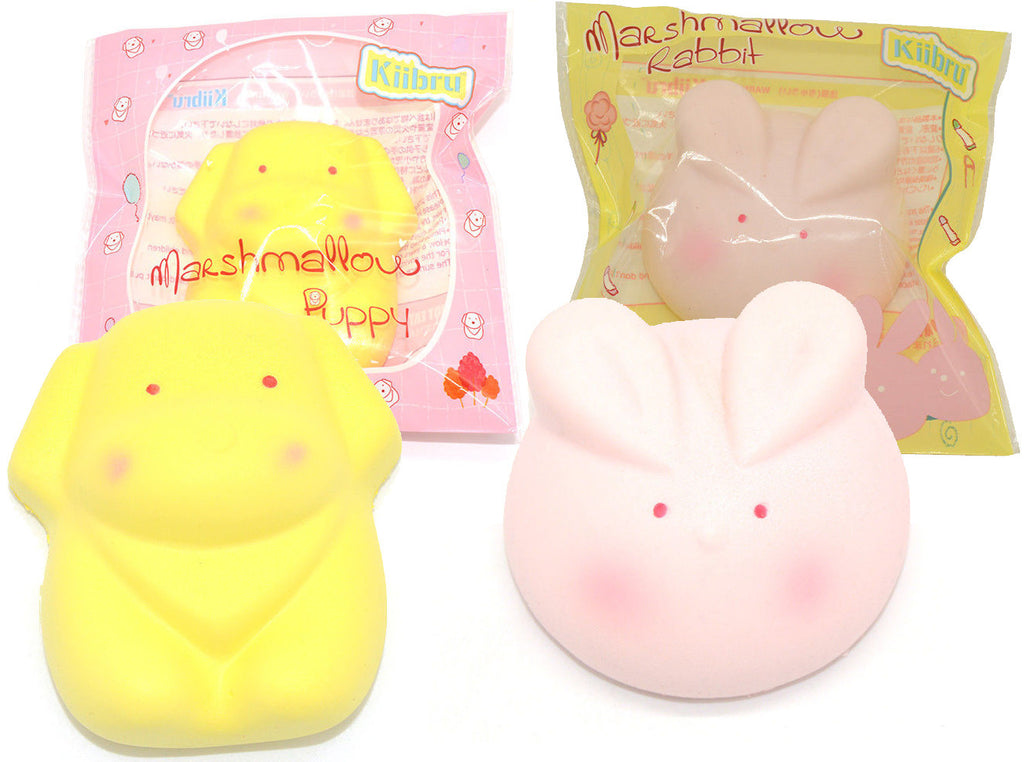 Kiibru SLOW RISE and SCENTED Marshmallow Bunny or Puppy!