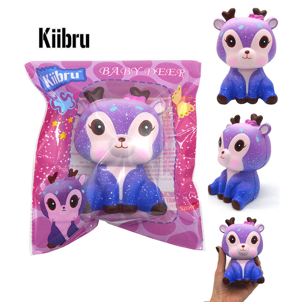 Kiibru SCENTED and SLOW RISE Baby DEER in Galaxy! Jenna Lyn Squishies and Accessories