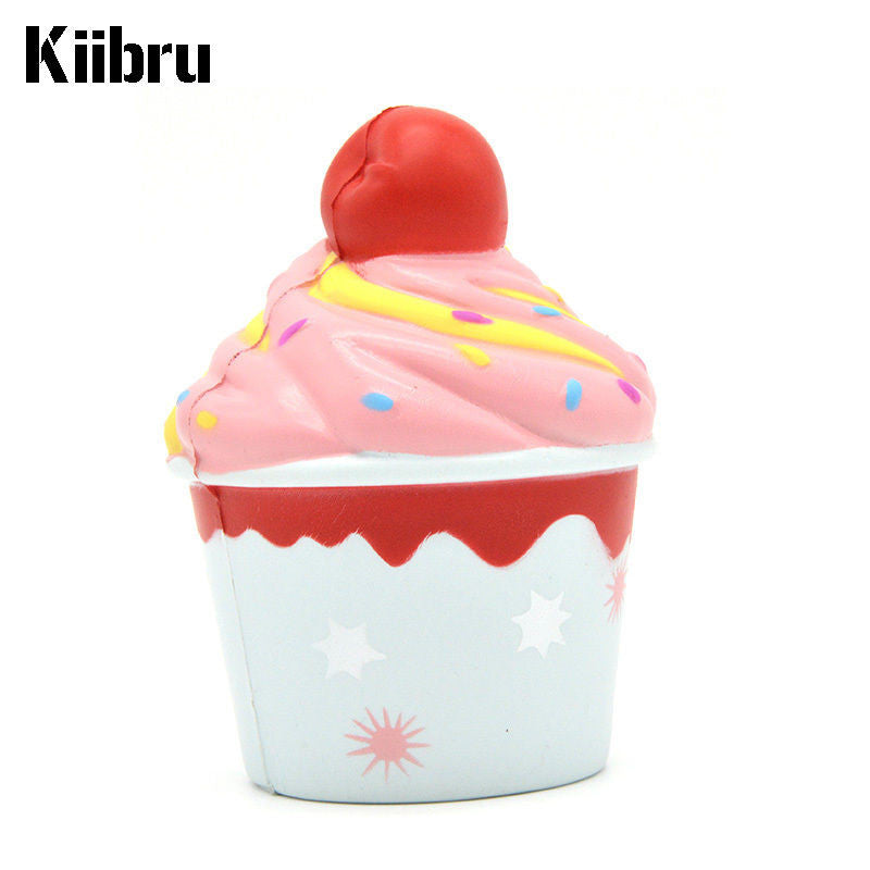 Kiibru SLOW RISE and SCENTED Cheery Cherry Ice Cream Cupcake! EXCLUSIVE!